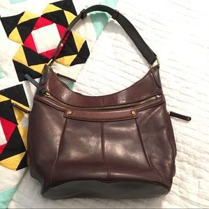 Tignanello vintage leather handbag purse